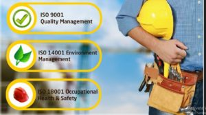 ISO 9001 2015 I4001 2015 OHSAS 18001 2007 ISO 45001 2018 Konstruksi