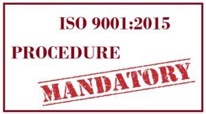 Prosedure Wajib ISO 9001 2015